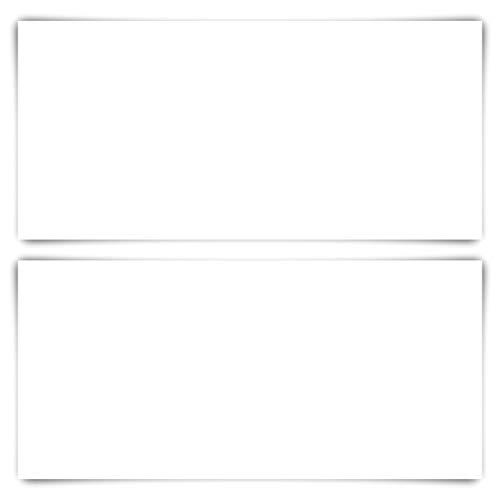 100 Blanko Karten DIN Lang 210 x 99 mm Bilderdruckpapier matt 300 g/qm Set Papier wählbar