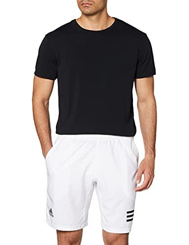 adidas Club 3str Shorts für Herren, Herren, Kurze Hose, GL5412, Weiß/Schwarz, M