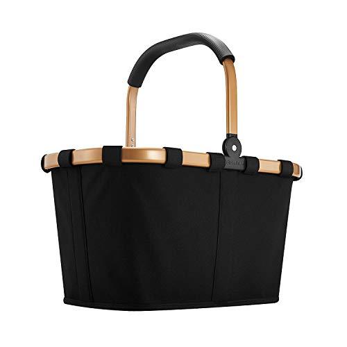 reisenthel carrybag frame Einkaufstasche 48 x 29 x 28 cm/22 l / gold/black