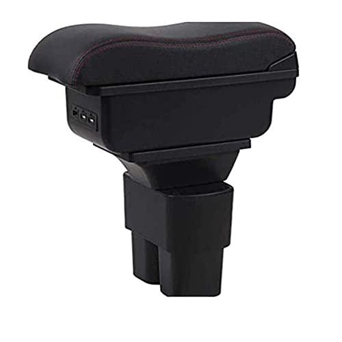 Caja de cuero para reposabrazos de consola de coche, se adapta a Nissan NV200 Evalia 2010-2017 Organizadores de consola central USB Reposabrazos de almacenamiento, accesorios de estilo interior de co