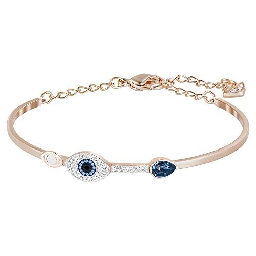 Swarovski Bracelet-jonc Swarovski Symbolic Evil Eye, bleu, Finition mix de métal