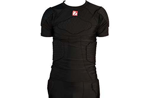 BARNETT FS-09 - Maglietta a maniche corte di compressione, 4 pezzi, calcio americano (XL)
