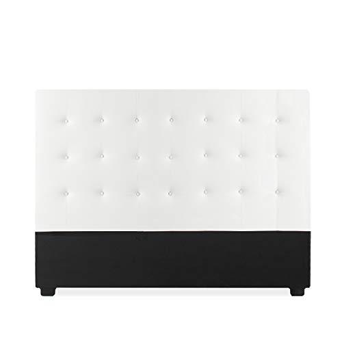 INTENSEDECO Tête de lit capitonnée Romy 160cm Blanc