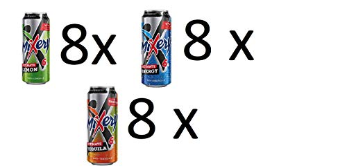 24 Dosen Mixery Ultimate Mix / 8x Tequila / 8 x Energy / 8 xLemon a 500ml inc. EINWEG Pfand 6% Vol.
