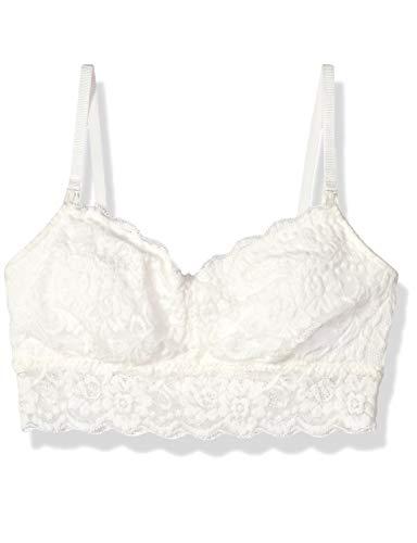 Amazon Brand - Arabella Women's Classic Lace Nursing Bralette, Ivory, Small