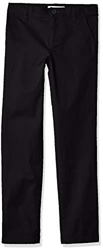 Amazon Essentials Slim Uniform Chino Pants, Negro, 14(S)
