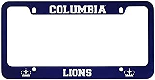 Columbia University -Metal License Plate Frame-Blue