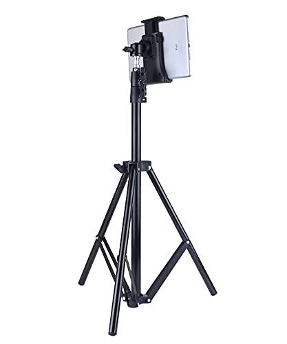 Soporte De Trípode Ajustable para Tableta Y Teléfono Móvil De Pie, Adecuado para Teléfonos Móviles O Tabletas De 4 a 10 Pulgadas