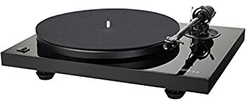 Music Hall MMF-2.3 Series 2-Speed Belt Driven Audiophile Turntable with a Precision Mounted Music Hall Spirit Cartridge in a Premium 8.6 Inch Carbon Fiber Tonearm  High Gloss Piano Black