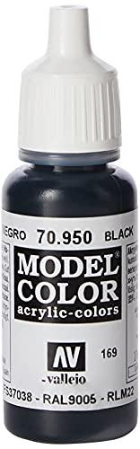 Vallejo Model Color Pintura Acrílica, Negro (Black), 17 ml