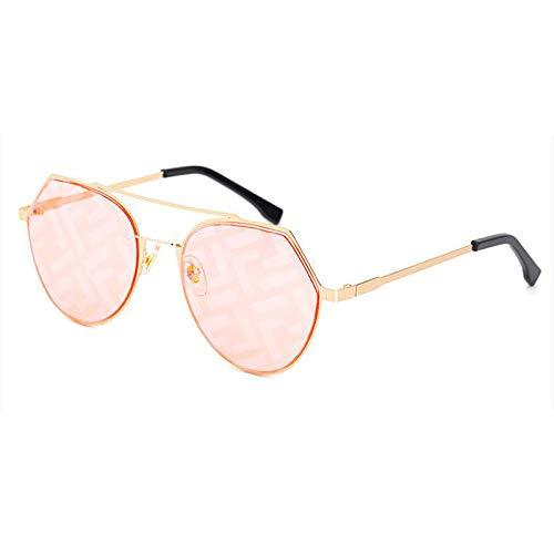 George zhang Gafas De Sol, Damas De Protección UV Irregular UV400 Gafas De Sol Personalizadas, Adecuadas para Conducir/Viajar/Excursionismo En La Calle,Rosado