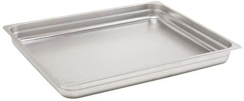 Pentole Agnelli Bassine Gastronorm 2/1, Acier Inoxydable 65x53x2 cm