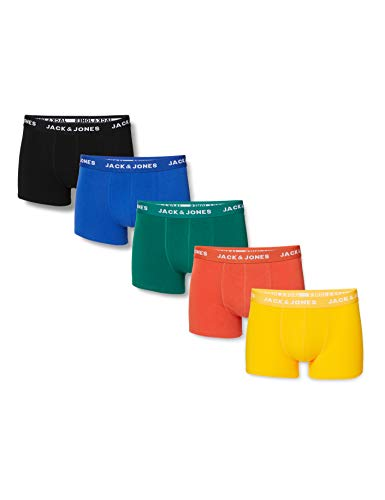 JACK & JONES Herren JACSUMMER Colors Trunks 5 Pack Boxershorts, Black, XL