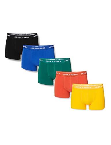 JACK & JONES Herren JACSUMMER Colors Trunks 5 Pack Boxershorts, Black, L