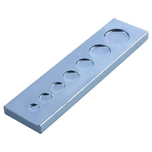 Gaoominy - Kit de Remaches con Base para perforar Agujeros e Instalar Remaches (11 Unidades)