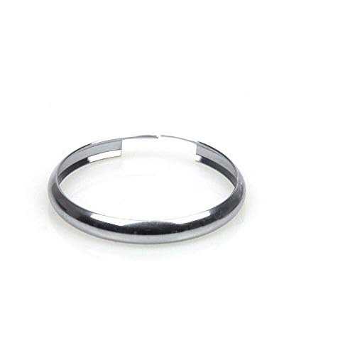 Oldbones Stainless Steel Smart Key Fob Ring Rim Trim Cover Replacement For Mini Cooper in Silver