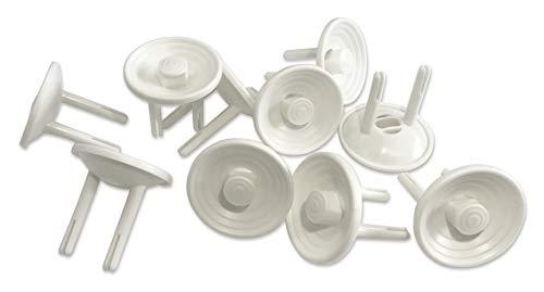 Naomo Kindersicherung Steckdosensicherung für Euro Steckdosen, Steckbar Steckdosen-Kappe für Kindersicherheit (10 Pack, Weiß)