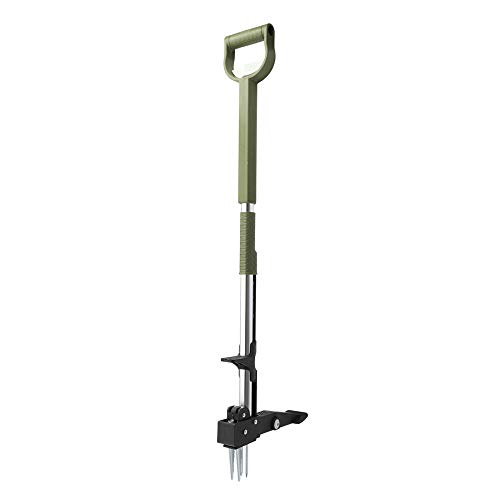 Homes Garden No Bend Stand-Up Manual Weeder 39'-47' Telescoping Long Handle Extendable D-Grip,...