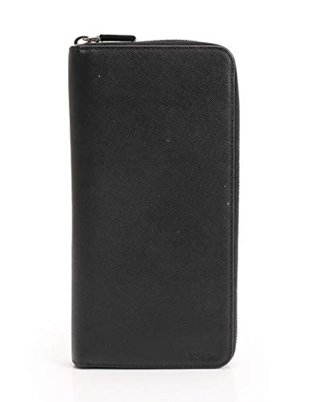 常に非効率的な味わう(プラダ) PRADA SAFFIANO ラウンドファスナー長財布 サフィアーノレザー 黒 2M1220 中古