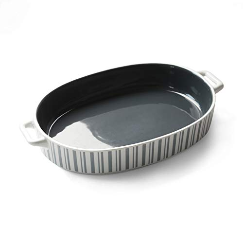YINYUEDAO Bakeware Set,Rectangle and Oval, Baking Dishes, Ceramic Baking Pan for Cooking, Kitchen, Cake, Dinner, Banquet and Daily Use