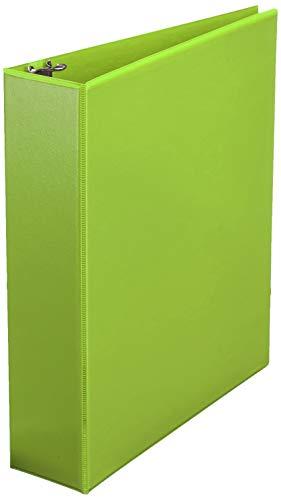 Amazon Basics 2 Inch, 3 Ring Binder, Round Ring, Customizable View Binder, Green, 12-Pack