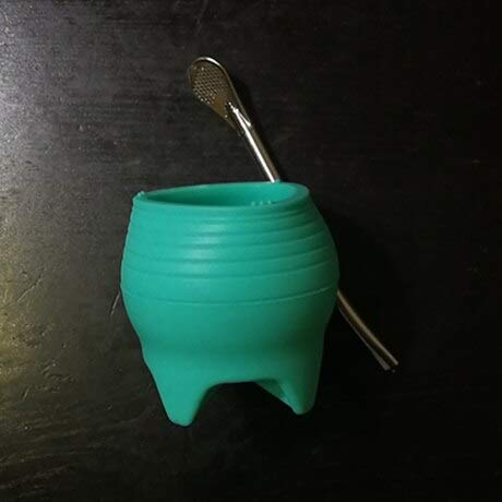 Best Quality - Mugs - 7oz silicone yerba mate cup free spoon straw tea mug fashionable portable travel tumbler non-broken drinkware 200ml bpa-free - by PAUL - 1 PCs