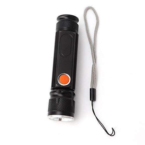 Linterna - Carga USB al aire libre T6 Linterna LED Linterna de alto brillo a prueba de agua para emergencias de camping