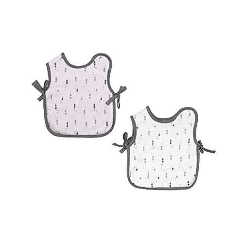 TOUS BABY - Set 2 baberos con forma de camiseta para tu Bebé. Colección Luminary. (0/36 meses) (Rosa)