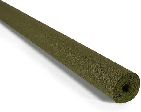 Spring new work Crepe Paper Roll Clearance SALE Limited time Premium Italian g 90 Green Olive