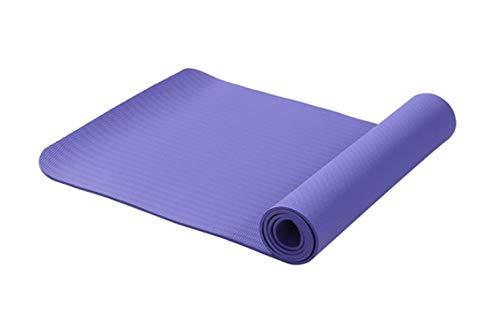 XCC 6MM TPE Anti-Rutsch für Fitness Tasteless Marke Pilates Mat 8Color Gym Übung Sport-Matten-Auflagen mit Yoga-Tasche Yoga Gurt Isomatte für Camping, Wandern, Reisen Strand,Lila