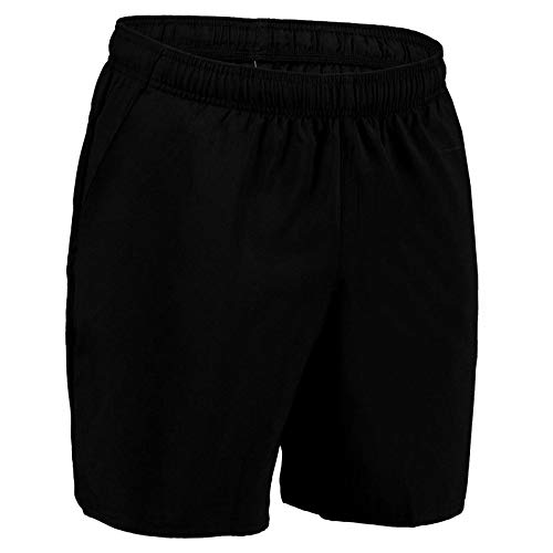 Domyos Men Fitness Cardio Training Shorts, Breathable, 360° Concept with a Special Cut and Fabric for Total Freedom of Movement- Black (Medium 92-97 cm)
