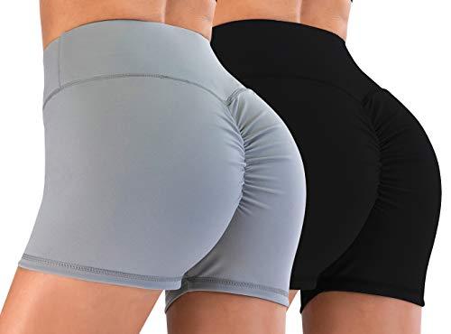 Minghe Yoga Shorts für Frauen High Waisted Scrunch Butt Workout Kurze Leggings Butt Lifting Volleyball Shorts