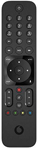 VODAFONE R3170301 Control Remoto de Reemplazo para Control por Voz de Vodafone, No Requiere Configuración, TV Control Remoto para Decodificador Vodafone TV 4K, Color Negro
