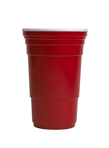 Red Cup Living Reusable Cup, 32 oz Party Cups – Travel Friendly Red Party Cups, Dishwasher and Microwave Safe Cups, Reusable Plastic Cups.