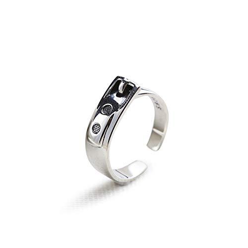 Beydodo Sterling Silber Ringe Verlobung Gürtelschnalle Silber Hochzeitsring Partnerringe