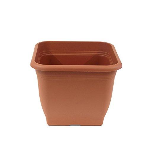 greemotion fioriera Pia terracotta - Vaso da fiori 48x48cm - 45L vasi di fiori angolare - in plastica resistente ai raggi UV Planter - fioriera gelo - Fioriera con fori inferiori - accessori
