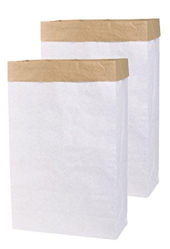 Lifestyle Lover 2X DIY Papiersack Paperbag mit Seitenfalz aus Kraftpapier zum selber gestalten bemalen bekleben Braun Weiß 'Blanko' (2)