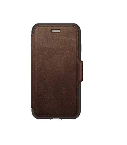 OtterBox pour Apple iPhone SE (2nd gen)/8/7, Étui folio antichoc en cuir véritable, Série Strada,Marron