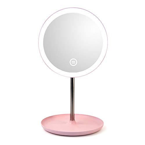 Benkeg Miroir Cosmétique de Led - Miroir Cosmétique de Miroir de Maquillage de Lampe de Table de Miroir de Maquillage de Mode de Rotation 360 ° de Luminosité Réglable
