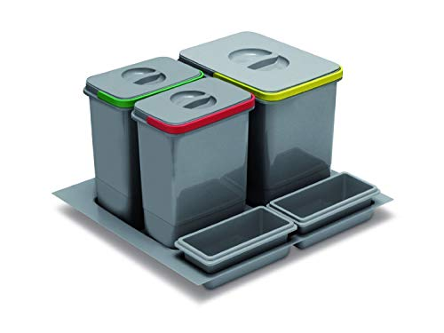 Gris elletipi PTC28 08050 1 F C97 PPV Papelera de reciclaje caj/ón