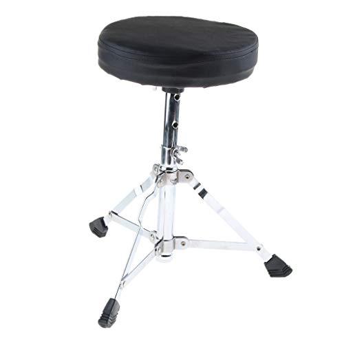 H HILABEE Premium Drumhocker Trommelhocker Schlagzeug Hocker für Kinder, Höhenverstellbar, Doppelstrebig
