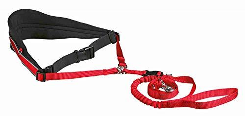 TRIXIE Cinturón Acolchado Canicross, Manos libres, Rojo, Perro