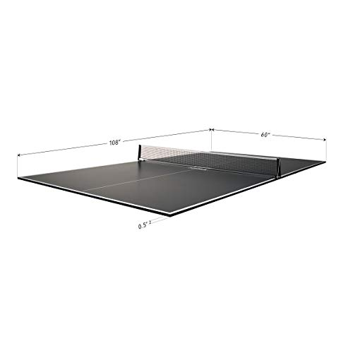 JOOLA Regulation Table Tennis Conversion Top with Foam Backing and Net Set - Full Sized MDF Ping Pong Table Top for Pool Table - Quick and Easy Assembly - Foam Backing to Protect Billiard Table, Full Foam Backing
