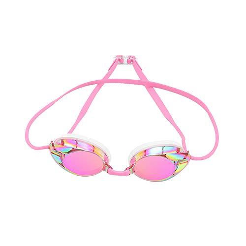 Vikenner kinder Schwimmbrille Pink lustige Fisch-Stil Schwimmbrille für Kinder (4-12 Jahre), lecksicher Schwimmbrille für Jungen Mädchen, Anti-Fog & UV Schutz & Schnell zu verstellen