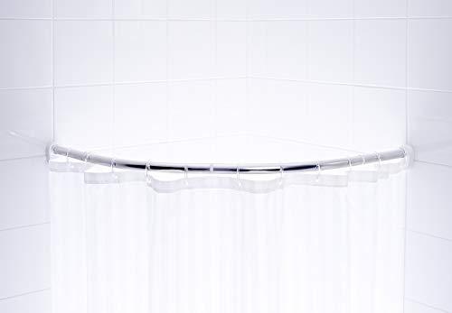 Barre d?angle 80x80 cm - ø 25 mm - Chrome pâle