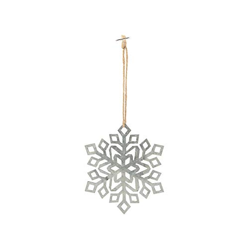 Fun Express Metal Snowflake Ornaments - Home Decor - 12 Pieces