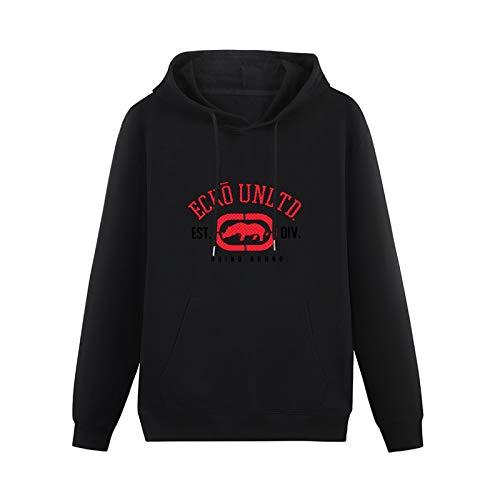 Mens Stylish Hoodies Ecko Unltd. The Rhino Remains Printed Hoodies Long Sleeve Pullover Loose Hoody Sweatershirt Black Christmas Hoodie XL