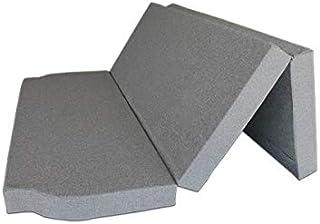 Ventadecolchones - Colchón Plegable para Furgoneta Camper Renault Space con Espuma en Densidad 25kg/m3 (Extrafirme) en Loneta Exterior Impermeable Gris