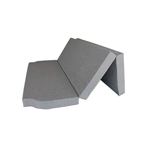Ventadecolchones - Colchón Plegable para Furgoneta Camper Renault Space con Espuma en Densidad 25kg m3 (Extrafirme) en Loneta Premium Gris