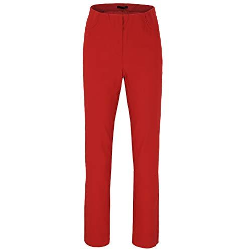 Stehmann Stehmann LOLI-742 Bequeme, stretchige Damenhose, mit schmalem Be Größe 38, Farbe rot